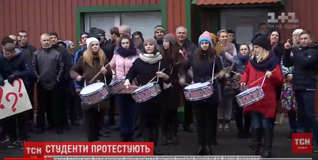 Студенты-скакуны мерзнут в аудиториях и требуют обменять безвиз на российский газ