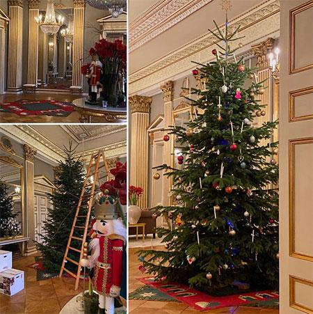 Королевская семья Дании показала интерьеры украшенного к Рождеству дворца Амалиенборг Монархи,Новости монархов