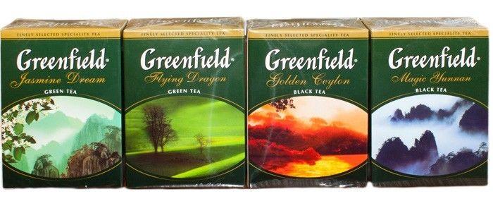 Greenfield - чай из России.