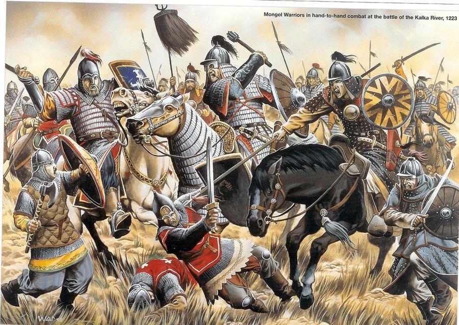 Как монголы разбили русских князей на Калке