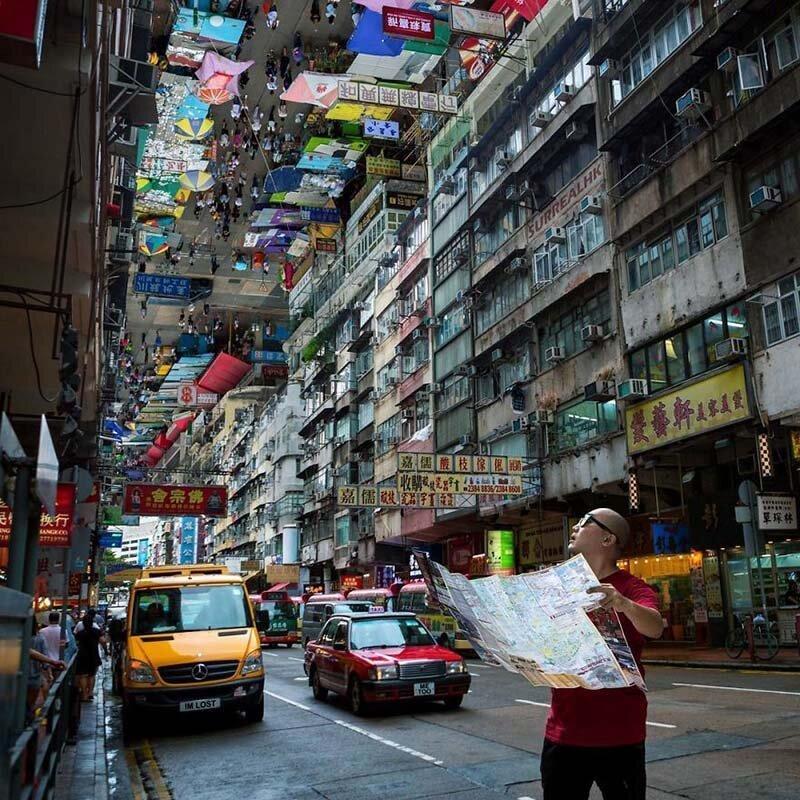 5. Похоже, что в данном случае карта не поможет Томми Фанг, гонконг, забавно, талант, фантазия, фото, фотошоп, художник