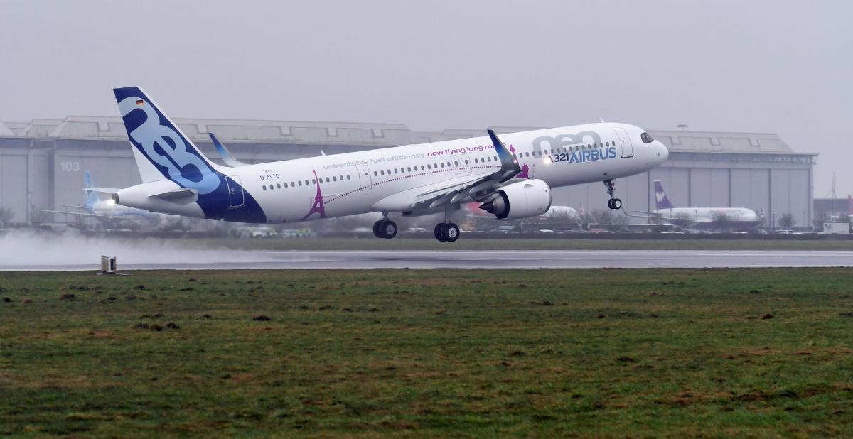 Рекордный полет Airbus A321neo LR