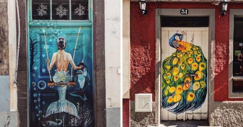Уличная галерея: расписные двери острова Мадейра