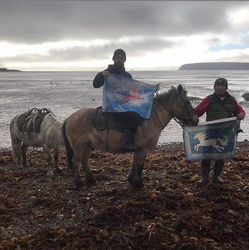 Британец рванул в кругосветное путешествие из Магадана на лошадях