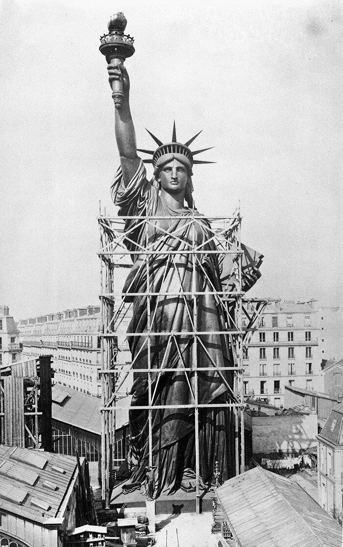3. Статуя Свободы. Нью-Йорк, США архитектура, достопримечательности, интересно, исторические фото, исторические фотографии, познавательно, сооружения, строительство