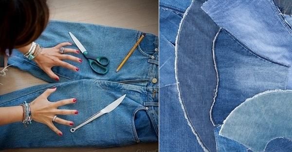 Вот какую прелесть можно сделать из старых джинсов!