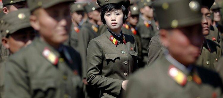 Девушки, служащие в армии КНДР