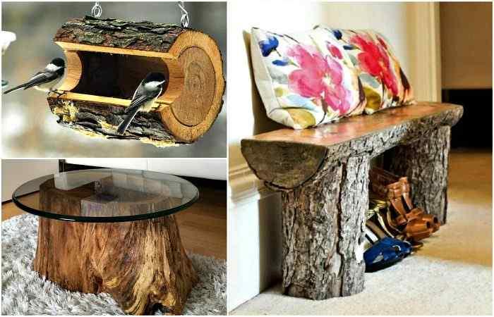 Идеи из деревянных пней