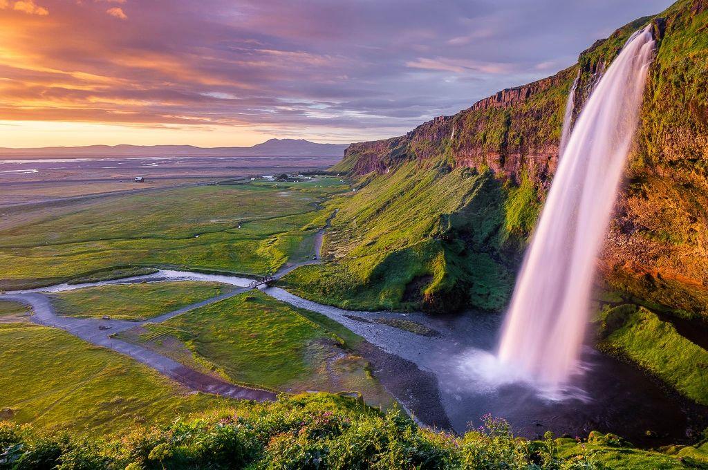 Божественная красота Исландии - водопад Селйяландсфосс