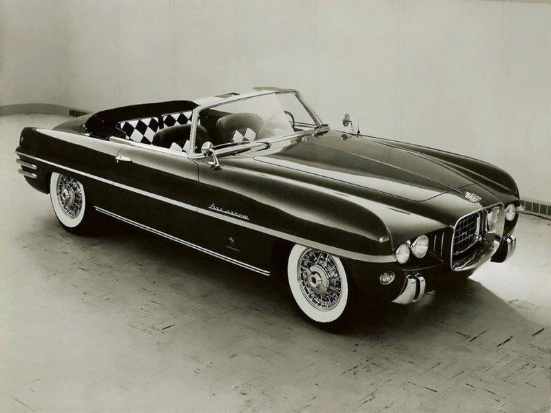 Dodge Firearrow IV Convertible Concept Car 1954 года Dual-Ghia, ghia, авто, автодизвйн, автомобили, кабриолет, олдтаймер, ретро авто