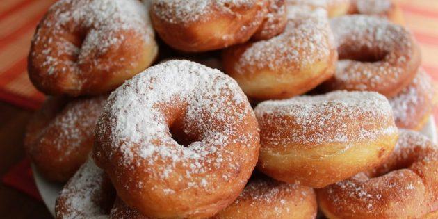 10 рецептов вкусных пышных пончиков с начинками и без еда,пища,рецепты, выпечка