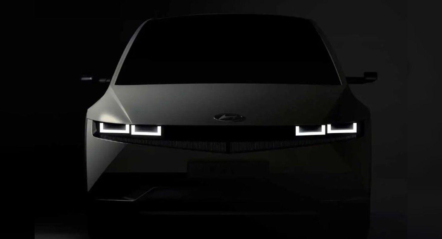 Hyundai интригует поклонников тизерами грядущего Ioniq 5 EV 2022 года Автомобили