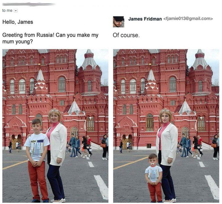 14 людей, которые попросили фотошоп-тролля исправить их фото. А он взял и сделал…
