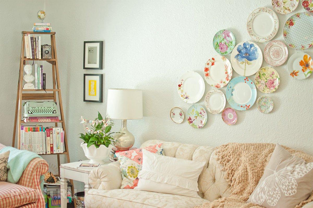 Как повесить тарелки на стену для декора