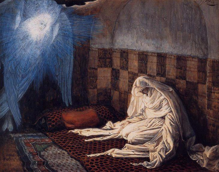 Annunciation Illustration for the Life of Christ