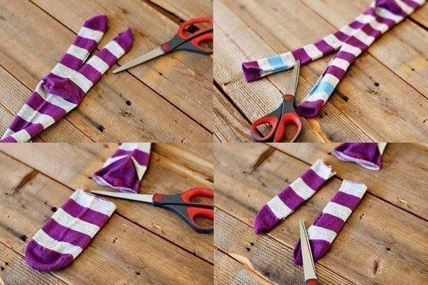 Мягкие игрушки из старых носков