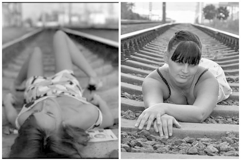 Прекрасно, когда всем телом сразу девушки, на рельсах, поезда, странное, туалеты, юмор