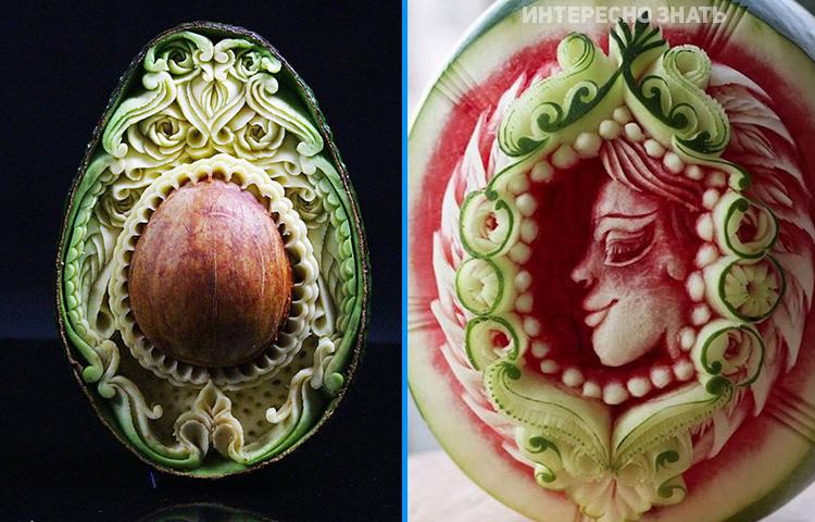 Эротическая резьба по овощам только!