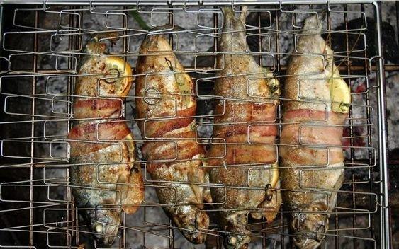 А может, вообще, вам по душе больше запекать рыбу или морепродукты? бананы, овощи на гриле, осень, пикник, чай, шашлык, яблоки