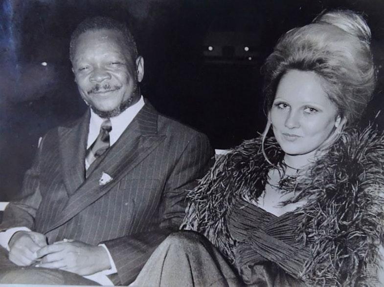 Jean-Bedel Bokassa and his twelfth wife Gabriella Drimbo