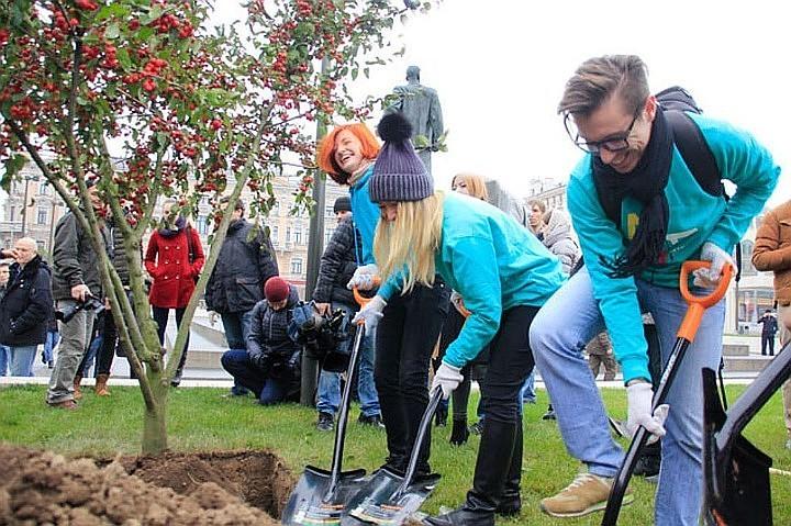 В Москве за пять лет высадили более 2 млн деревьев и кустарников