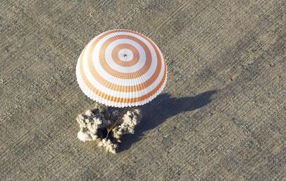 Экипаж МКС приземлился в Казахстане