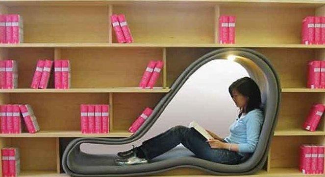 8. Полка с местом для чтения книги, книголюбы, крутые вещи, способы хранения, фото, чтение