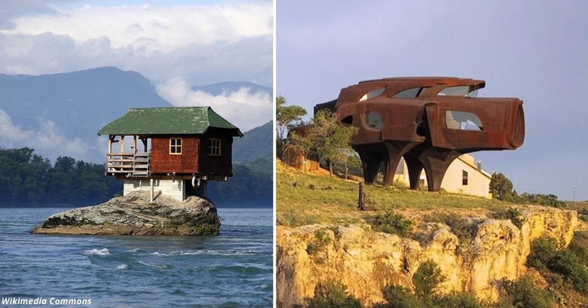 24 самых необычных дома в мире, от которых у вас - буквально - сорвёт крышу
