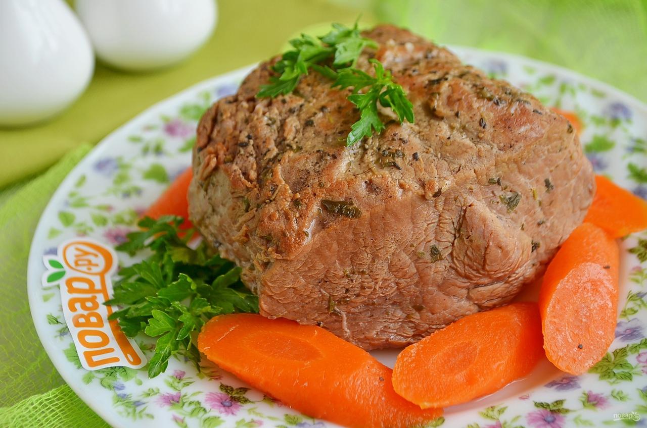Тушеная говядина на абрикосовом соке