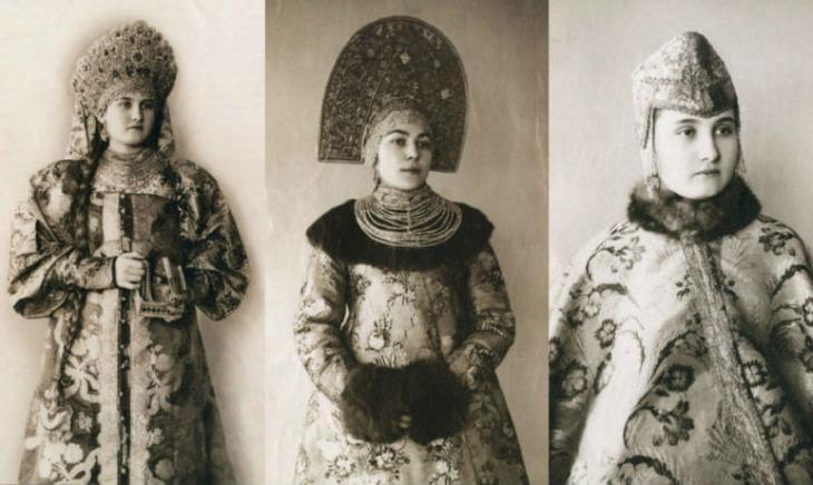 Уникальные фотографии русских красавиц в народных костюмах дореволюционной России