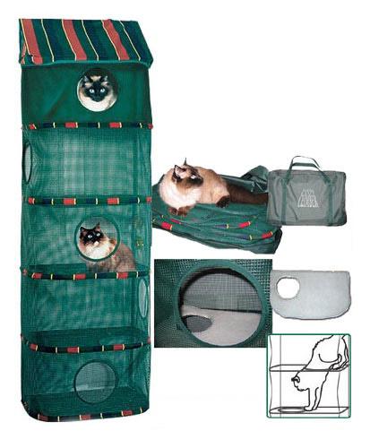 Многоуровневый домик для кошек из сетки