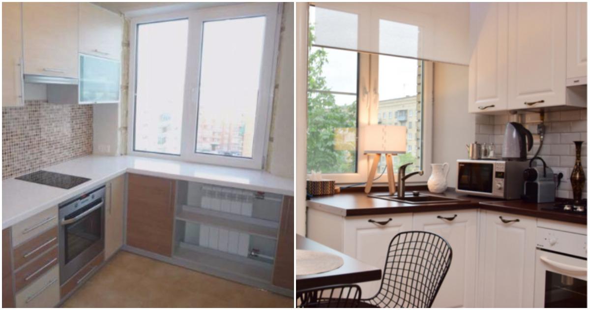 Дизайн подоконника на кухне – обеденный стол, рабочая зона, скамья