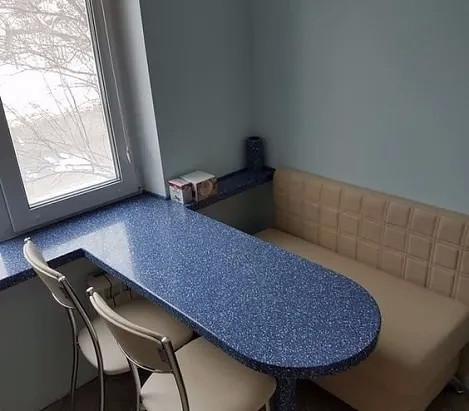 Подоконник-стол. Как Вам такой вариант для маленькой кухни?