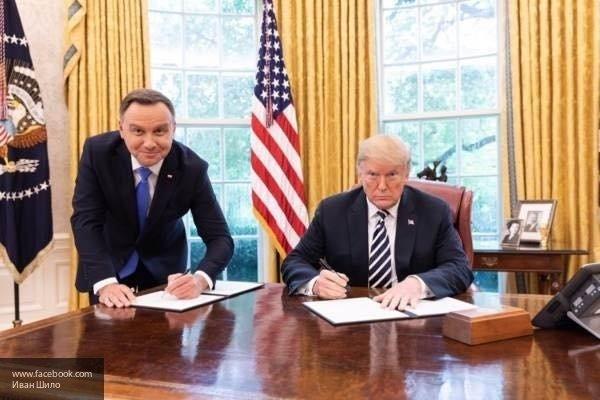 Сотрудник польского канала был уволен за унизительное фото Дуды с Дональдом Трампом
