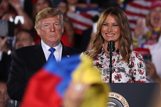 Дональд и Мелания Трамп выступили в Международном университете Флориды
