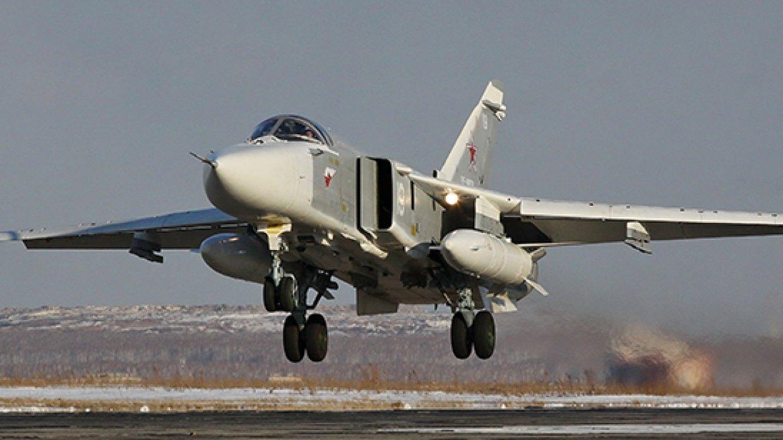 Российские Су-24М разбомбили…