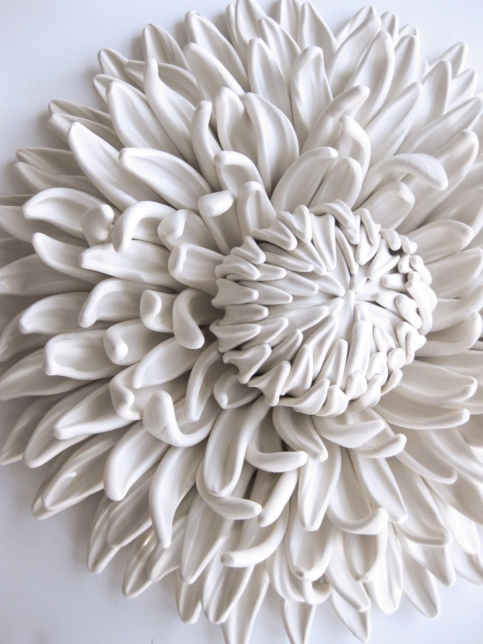 Изящные цветочные композиции из полимерной глины от  Анжелы Швер
