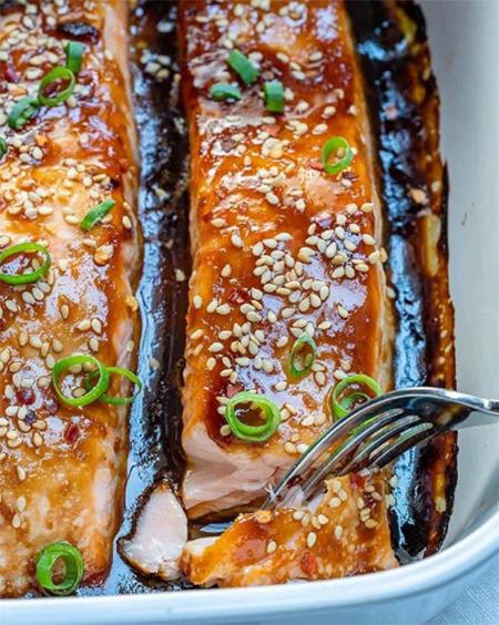 Сытный ужин: запеченный лосось под соусом терияки Стиль жизни,Еда и рецепты