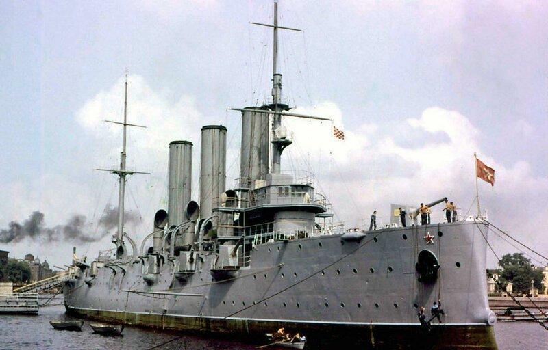 4. Крейсер «Аврора» — символ Октябрьской революции 1917 года. СССР, интересное, история, ленинград, фотографии