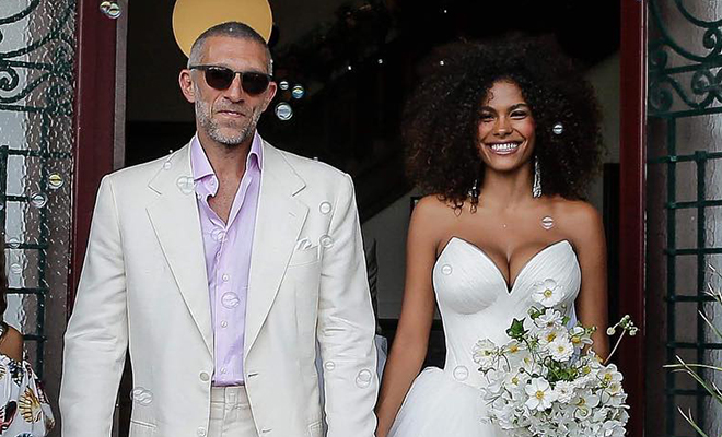 51-лений Венсан Кассель и 21-летняя Тина Кунаки поженились