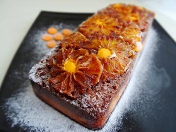 Карамельно-апельсиновый кекс