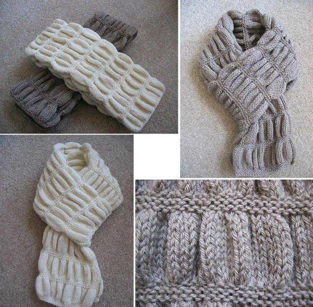 Очень простой шарф-снуд
