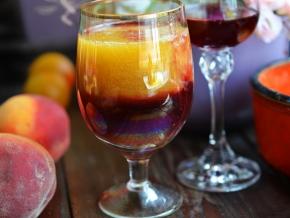 """Спиртные напитки. Персиковый коктейль """"Бокал страсти"""""""
