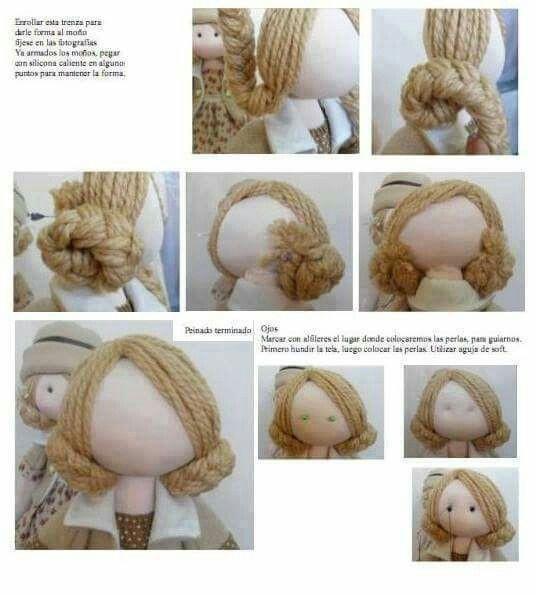 Оформляем текстильным куколк…