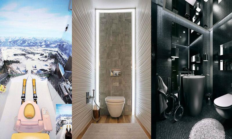 Необычные идеи оформления туалета