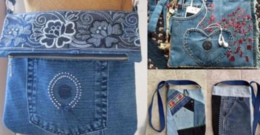 Сумки из старых джинсов… 122 идеи для вдохновения!