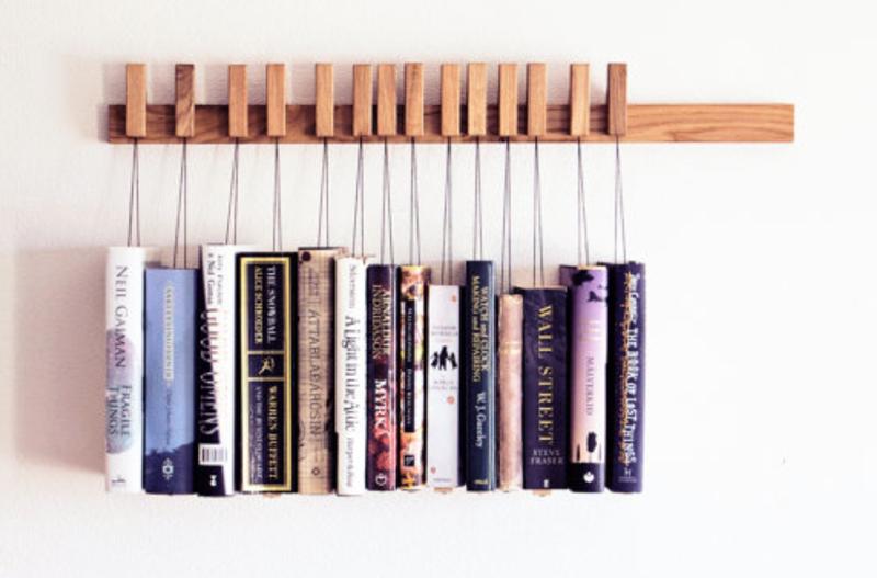 10. Читать - это не только полезно, но и стильно, можно придумывать различные способы размещения книг книги, книголюбы, крутые вещи, способы хранения, фото, чтение