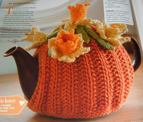 Knitting pattern – Daffodil TEA-COSY | eBay