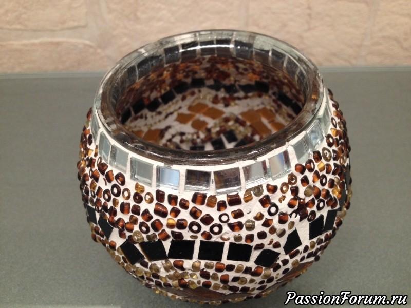 Украшение вазочки бисером идеи