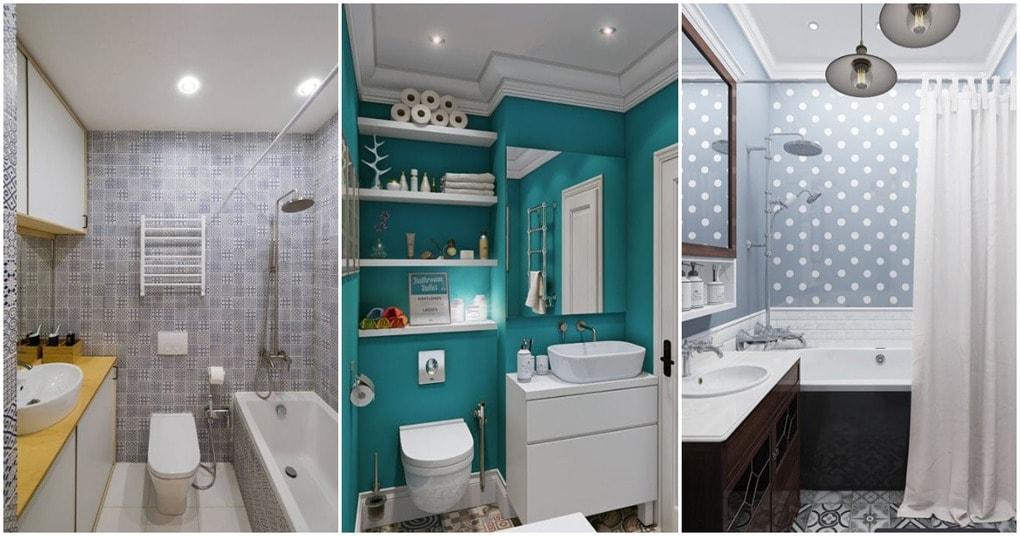 В таких маленьких ванных комнатах есть место для всего